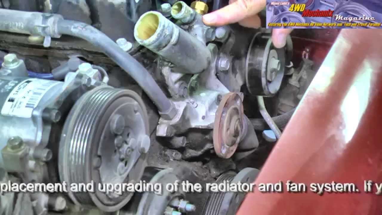 Trailer Howto Jeep 40L Inline Six Water Pump Removal and – Jeep Cherokee Straight 6 Engine Diagram