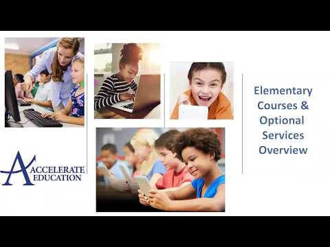 Accelerate Education Online Elementary (Grades K-5) Overview