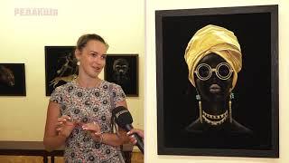 Выставка Black edition в Литмузее//Картины из эко-замши//Элина Фурсина
