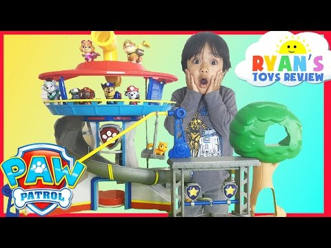 Thumbnail: PAW PATROL TOYS Look out Playset Jumbo Sized Action Pup Marshall Rescue Training Center Nickelodeon
