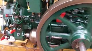 Ruston Hornsby 1HR Hopper cooled 5HP Stationary Barn Engine running
