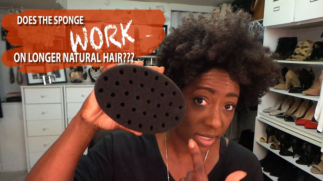 Natural Hair The Sponge Method On Longer Natural Hair