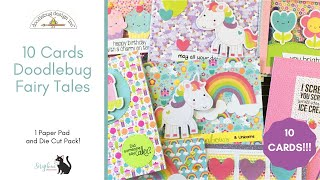 10 Cards | 1 6x6 Paper Pad and Die Cuts | Doodlebug Fairy Tales thumbnail