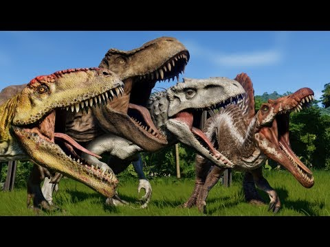 Jurassic World Evolution: BATTLE ROYALE ALL DINOSAURS!!! - Jurassic World Evolution | HD
