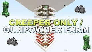 Minecraft - Creeper Only / Schwarzpulver Farm - Tutorial 1.16
