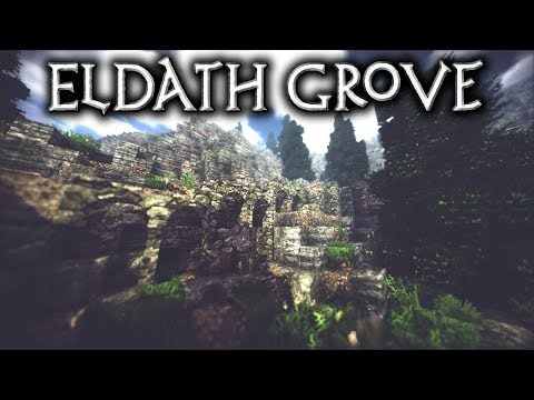 Minecraft: Eldath Grove - Ep2 Paths & Standing Stones  (Let's Build)