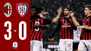 Highlights : AC Milan 3-0 Cagliari I Serie A - Matchday 23 - FULL HD