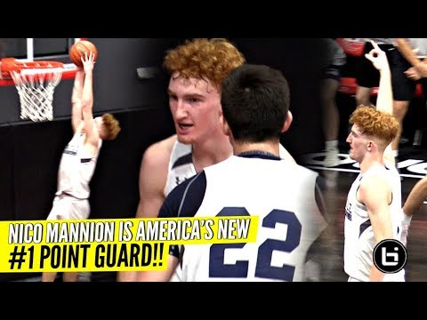 Nico Mannion is The #1 Point Guard In America Now!! Super CLUTCH 1st Game of Season!!