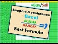 Support & Resistance | Calculation Share Market | Pivot Point | Formula Explain In Excel | In Hindi