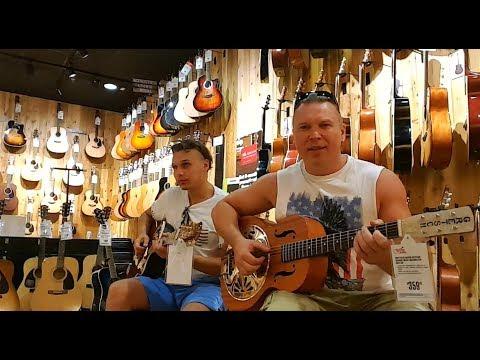 Музыкальный магазин в США.Металлика на акустике.#154