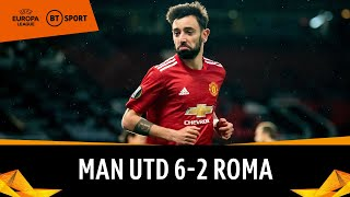 Man Utd v Roma (6-2) | Pogba, Cavani And Fernandes Run Riot! | Europa League Highlights