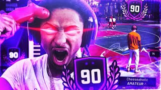 SUBCRIBER TROLLS ME AND MAKES ME LOSE ON MY 90 OVERALL REACTION GAME NBA 2K19 RAGE😡