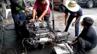1UZ-FE Engine V8 1st Start in Bangkok Thailand