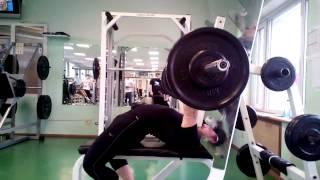 Тренировка жима лежа лежа 120 кг, собственный вес 88 кг, AWPC