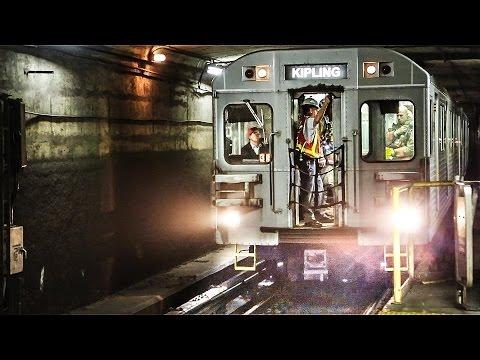 Fire Crew Investigating Using TTC Subway Train || T1 6-car train