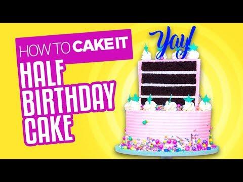 Chocolate & Banana Half Birthday Cake | How To Cake It