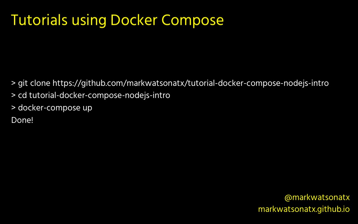 tutorials using docker compose - youtube