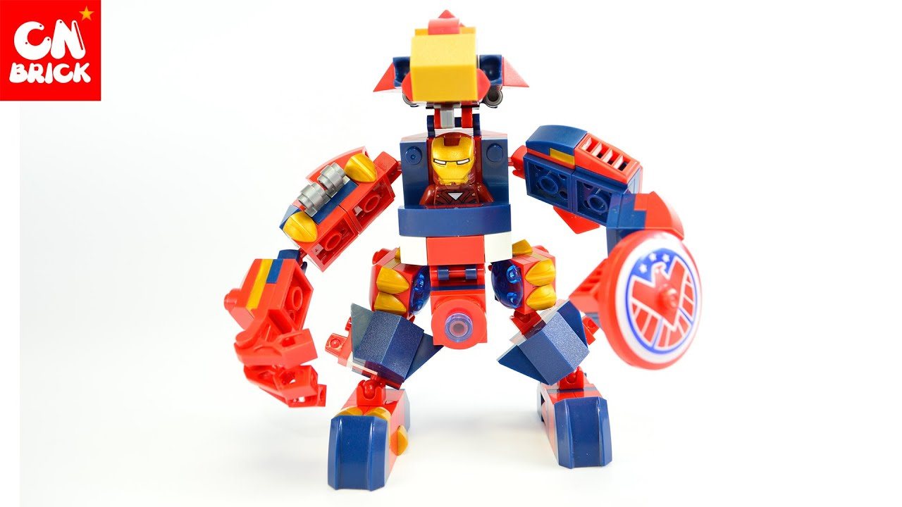 LEGO SY516AB IRON MAN ROBOT AND CAPTAIN AMERICA ROBOT ...