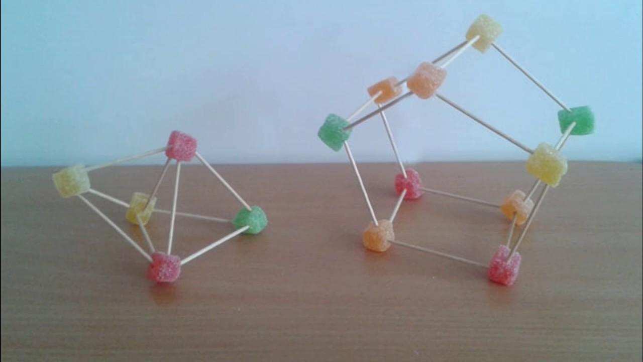 Geometría Jugando Con Palillos Y Gominolas Youtube