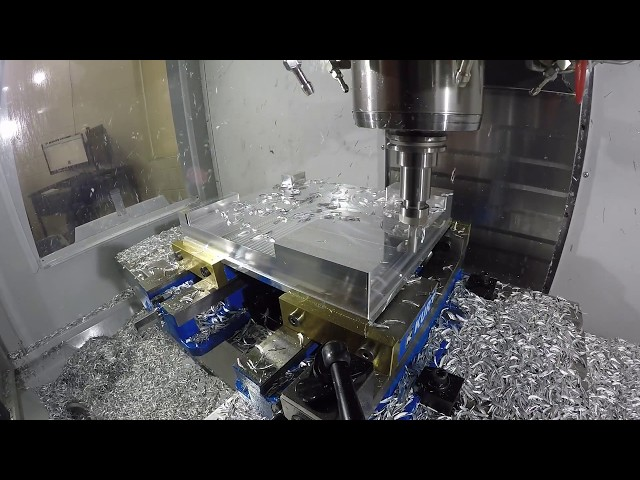 Haas VF2 SS Roughing Aluminum w/ Garr Alumastar @ Wagner Machine Co