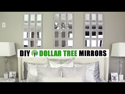 DOLLAR TREE DIY LARGE MIRRORS | DIY Glam Wall Decor Idea