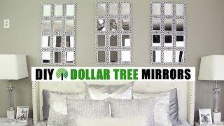 Dollar Tree Diy Large Mirrors | Diy Glam Wall Decor Idea