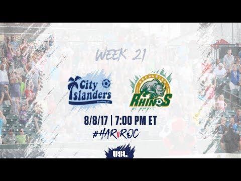 USL LIVE - Harrisburg City Islanders vs Rochester Rhinos 8/8/17