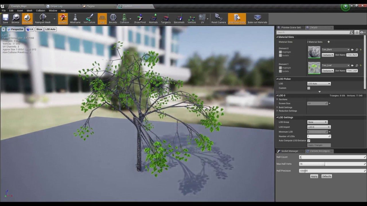 Unreal Engine 4 Plugin : Procedural Tree Component