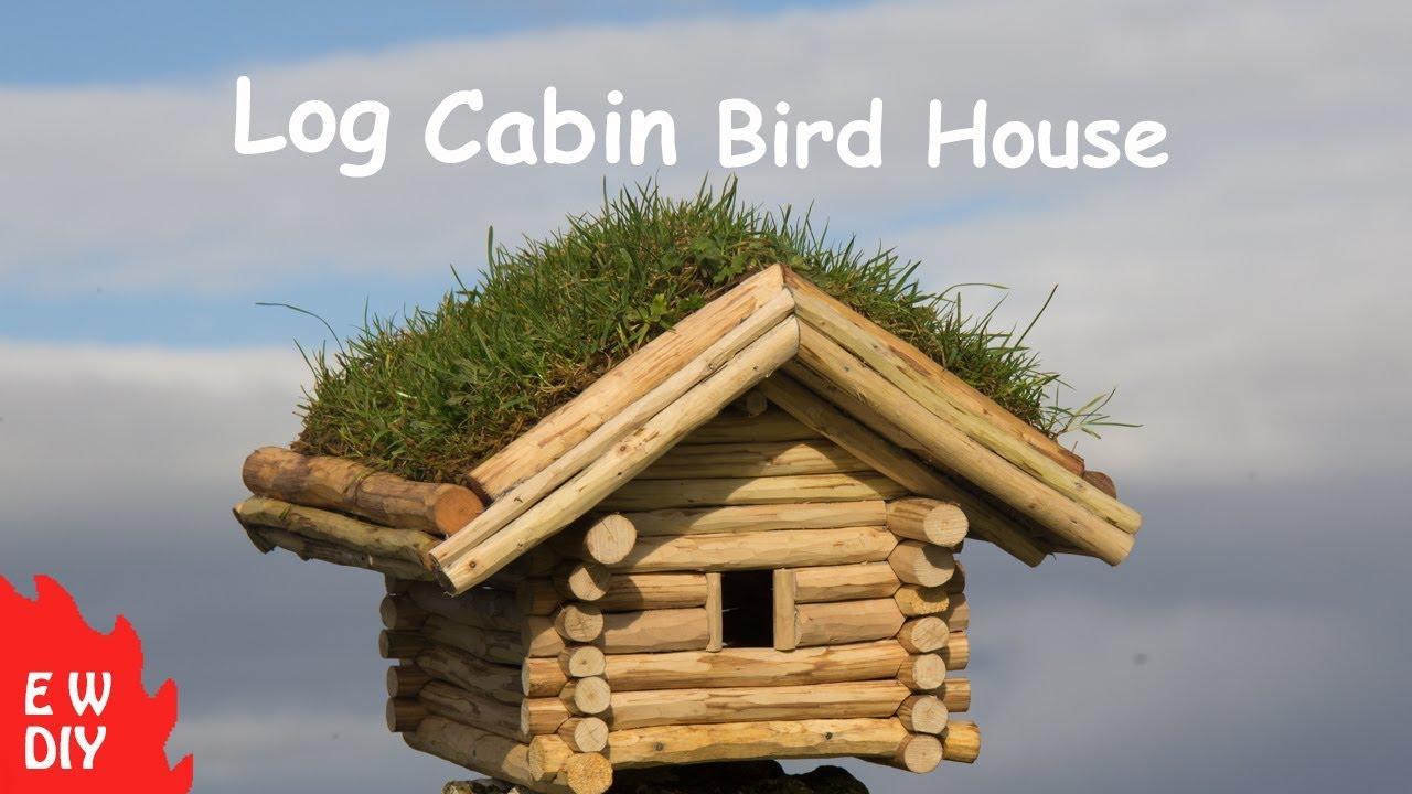Log cabin bird house youtube solutioingenieria Gallery
