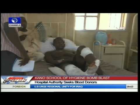 Kano School Of Hygiene Blast: Blood Shortage Threatens Victims' Survival