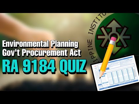 ENVIRONMENTAL PLANNING REVIEW   RA 9184 GOVERNMENT PROCUREMENT REFORM ACT