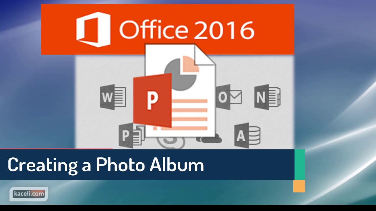 PowerPoint 2016 Tutorial: Creating a Photo Album in PowerPoint