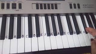 Abhi Mujh mein kahin | Slow Tutorial for beginners| Keyboard Piano casio Cover