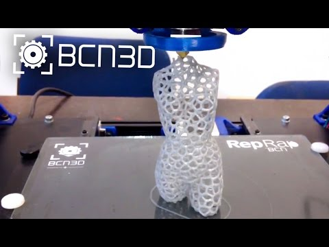 Printing Fishnet Woman in a BCN3D+