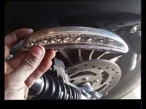 installing LED tail light and wiring it onto a Harley sportster on