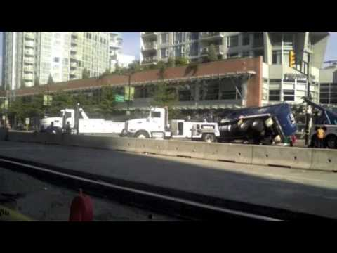 Garbage Truck Accident - Yaletown, Vancouver