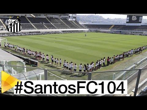 Abraço à Vila Belmiro em comemoração aos 104 anos do Santos FC
