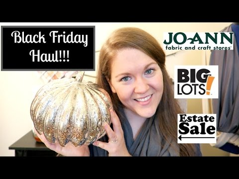 Black Friday Haul!  (Jo-Ann Fabrics, Big Lots, Estate Sale!!!)
