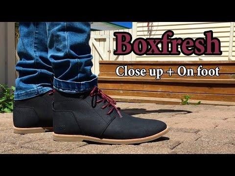 Boxfresh Chukka Boot Close Up + On Feet w/ Different Pants