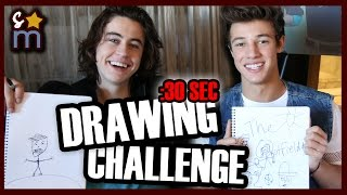 30 Second Drawing Challenge w/ Nash Grier, Cameron Dallas & THE OUTFIELD Cast