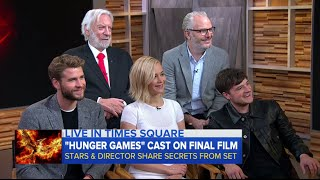 Jennifer Lawrence, Josh Hutcherson and Liam Hemsworth on GMA (18-11-15)