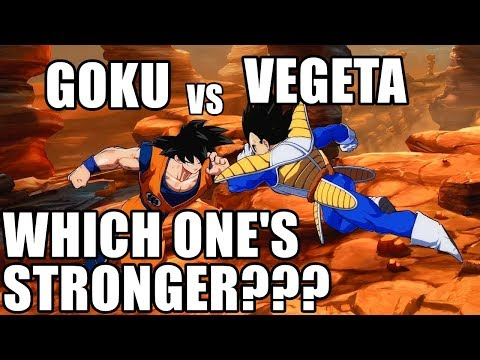 Goku vs Vegeta - Which Base Form Character is Stronger????