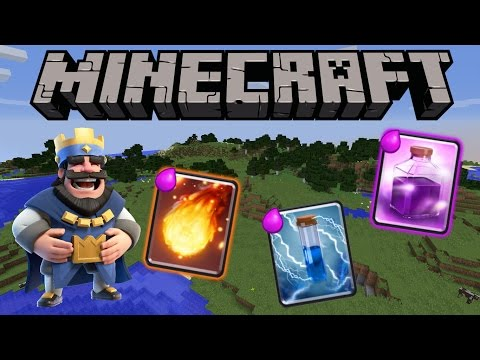CLASH ROYALE IN MINECRAFT!   1.11 + 1.10 Only One Command   Spells   NO MODS!