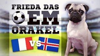 FRANKREICH gegen ISLAND » FUSSBALL ORAKEL FRIEDA » EM 2016 EURO 16 FRA ISL Viertelfinale Ergebnis