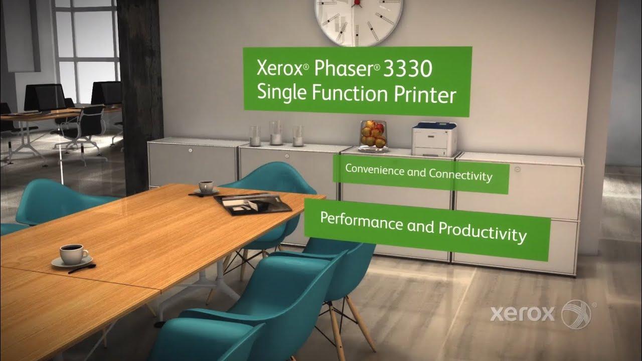 Meet the Xerox Phaser 3330 Printer
