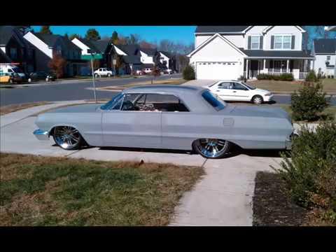 1963 Impala 22 Asanti Air Ride Chrome Motor Big Boyz