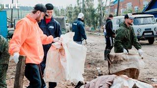 Волонтёры — о работе в затопленном Тулуне