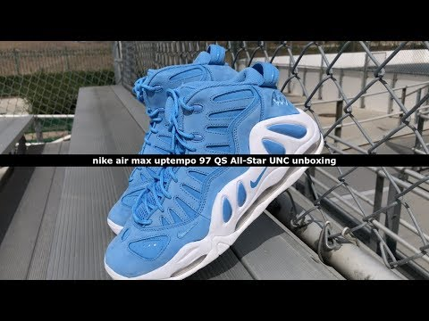 outlet online various colors where can i buy Unboxing: Nike Air Max Uptempo 97 QS All-Star UNC