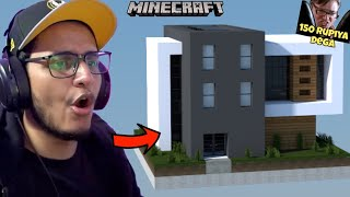Fastest To Build a House Wins 150 Rupiya (Minecraft)