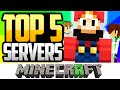 ⭐ TOP 5 MEJORES SERVERS DE MINECRAFT NO PREMIUM  📺 ✅